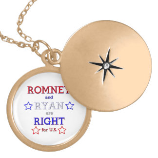 Romney and Ryan are Right for U.S. Locket Necklace