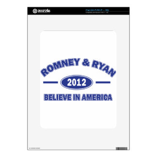 Romney and Ryan Believe Decals For iPad