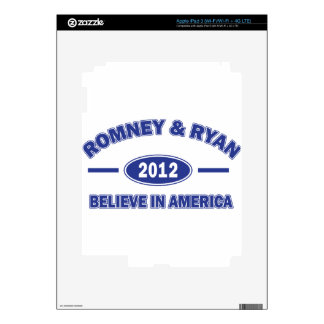Romney and Ryan Believe Decals For iPad 3