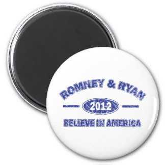 Romney and Ryan Believe in America 2 Inch Round Magnet