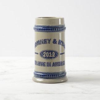 Romney and Ryan Believe in America Coffee Mugs