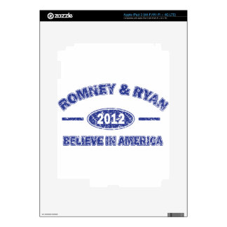 Romney and Ryan Believe in America Decal For iPad 3