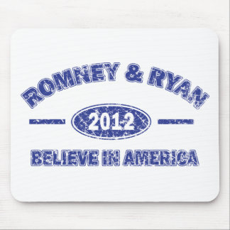 Romney and Ryan Believe in America Mouse Pad