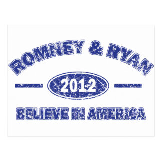 Romney and Ryan Believe in America Postcard
