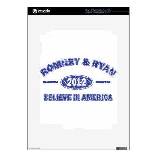 Romney and Ryan Believe in America Skin For iPad 2