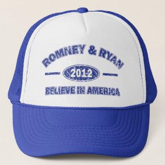 Romney and Ryan Believe in America Trucker Hat