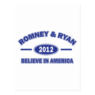 Romney and Ryan Believe Postcard