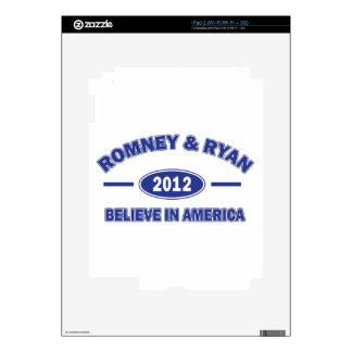 Romney and Ryan Believe Skin For iPad 2