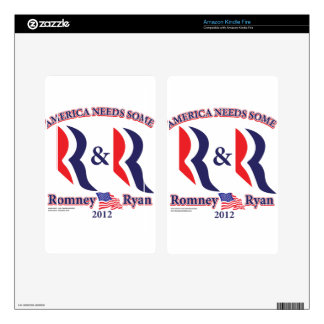 Romney and Ryan Decal For Kindle Fire