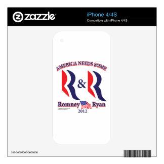 Romney and Ryan iPhone 4 Skin