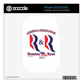 Romney and Ryan iPhone 2G Skins