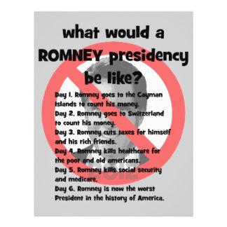 Romney anti flyer personalizado