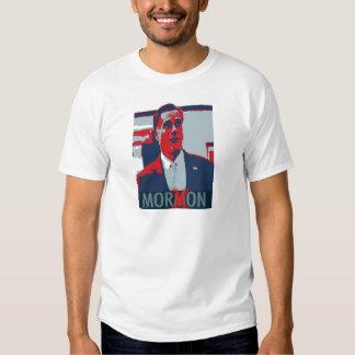 Romney Anti Mitt Romney la camiseta mormona del Playera
