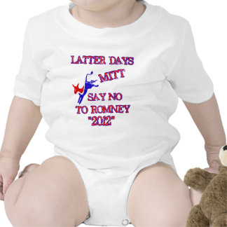 Romney- anti ningún Romney 2012 Trajes De Bebé