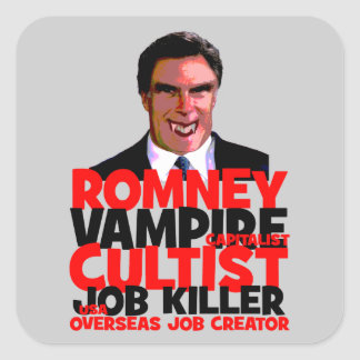 Romney anti pegatina cuadrada