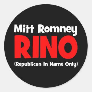 Romney anti RINO Pegatina