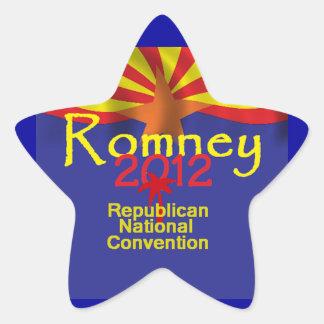 Romney ARIZONA Pegatina En Forma De Estrella