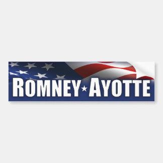 Romney - Ayotte - 2012 Pegatina De Parachoque
