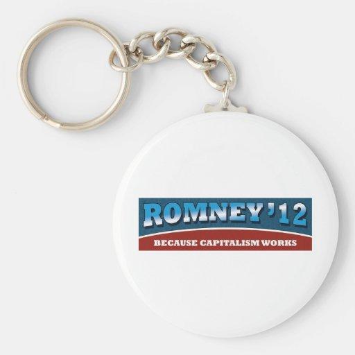Romney- Because Capitalism Works Keychain