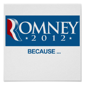 ROMNEY BECAUSE png Impresiones