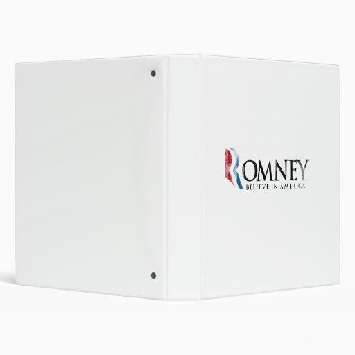 Romney - Believe in America 3 Ring Binders