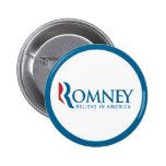 Romney Believe in America Button