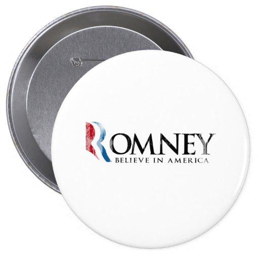Romney - Believe in America Buttons