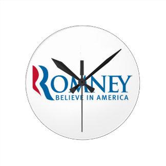 Romney Believe in America Clock
