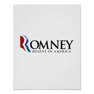 Romney - Believe in America Print