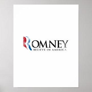 Romney - Believe in America Posters