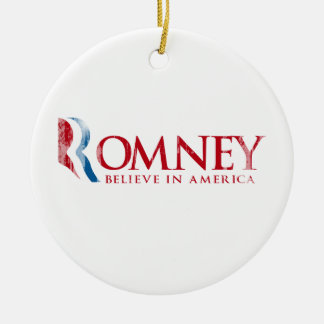 Romney - Believe in America (red) Ceramic Ornament