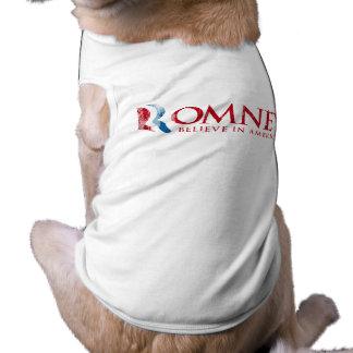 Romney - Believe in America (red) Pet Tee