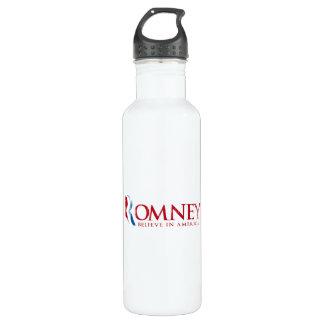 Romney - Believe in America (red) 24oz Water Bottle