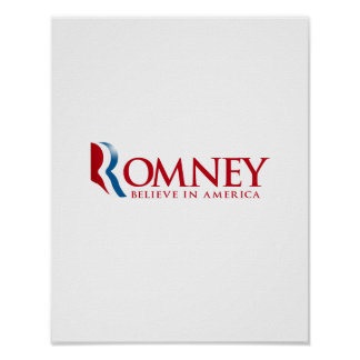 Romney - Believe in America (red).png Poster
