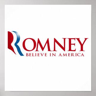 Romney - Believe in America (red).png Print