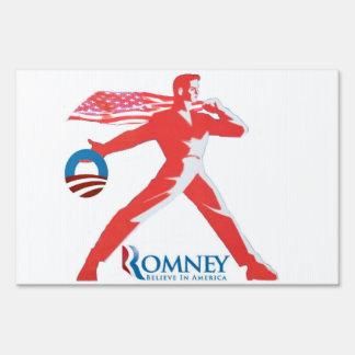 Romney Believe in America Yard Sign