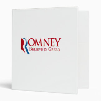 Romney -  Believe in Greed Vinyl Binder