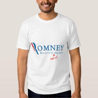 Romney: Believe in (half of) America Tee Shirt