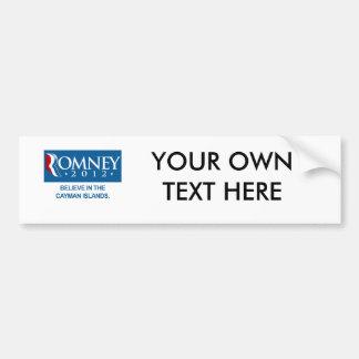 ROMNEY BELIEVE IN THE CAYMAN ISLANDS.png Bumper Sticker