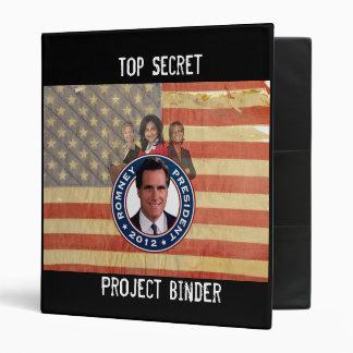 Romney Binder Top Secret Resume Custom Binder