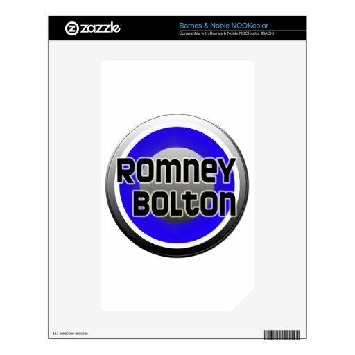 Romney Bolton 2012 NOOK Color Skins