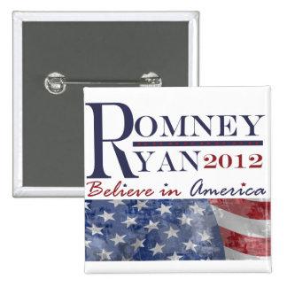 Romney - botón de Ryan 2012 Pins