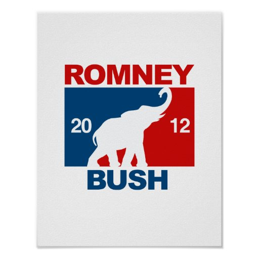ROMNEY BUSH 2012 ICON.png PROFESIONALES Poster