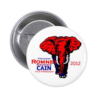 Romney Cain 2012 Pinback Button