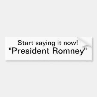 Romney Pegatina De Parachoque