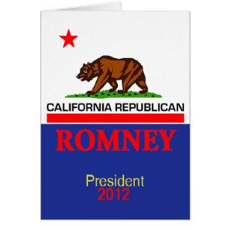 Romney CALIFORNIA Card