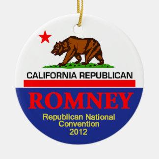 Romney CALIFORNIA Ceramic Ornament