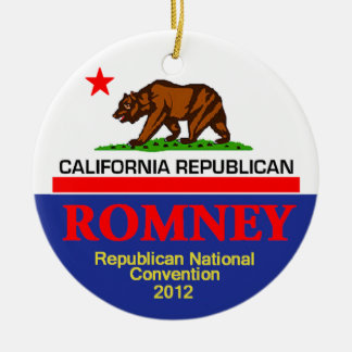 Romney CALIFORNIA Ornaments