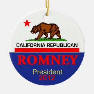 Romney CALIFORNIA Ornament