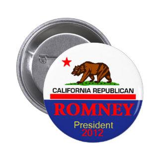 Romney CALIFORNIA Pinback Button